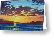Sunrise Over Gonzaga Bay Greeting Card