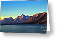 Sunrise Over Jackson Lake Greeting Card