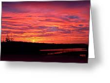 Sunrise Over Miller Bay Greeting Card