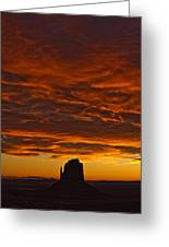 Sunrise Over Monument Valley, Arizona Greeting Card