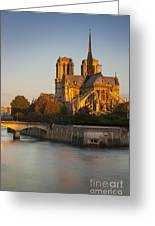 Sunrise Over Notre Dame Greeting Card