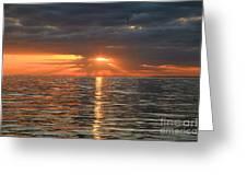 Sunrise Over Ripples Greeting Card