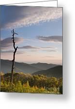 Sunrise Over Shenandoah National Park  Greeting Card