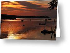 Sunrise Over Southwest Harbor Greeting Card