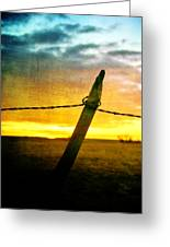 Sunrise Over The Prairie Greeting Card