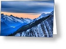 Sunrise Over The Rockies Greeting Card
