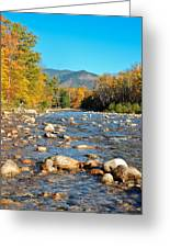 Sunrise Over The Saco Vertical Greeting Card by Geoffrey Bolte