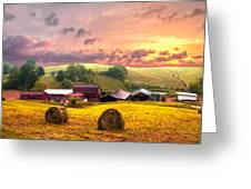 Sunrise Pastures Greeting Card