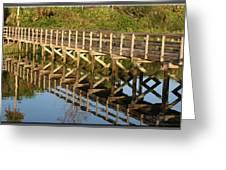 Sunrise Pier Reflection Greeting Card