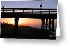 Sunrise Pier Ventura Greeting Card by Henrik Lehnerer