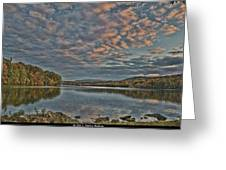 Sunrise Putnam Lake Greeting Card