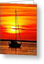 Sunrise Sailing Greeting Card