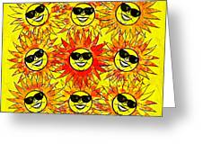 Suns Party Greeting Card