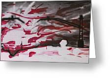 Sunset - Serigrafie Kunst Greeting Card