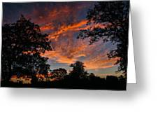 Sunset 07 26 12 Two Greeting Card