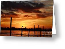 Sunset 1-1-12 Greeting Card