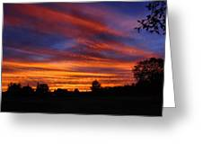 Sunset 2   09 22 12 Greeting Card