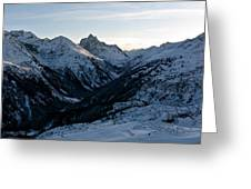 Sunset About St. Anton Greeting Card