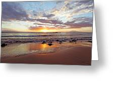 Sunset At Cove Park Greeting Card