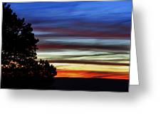 Sunset At Desert View Along The Grand Canyon Greeting Card