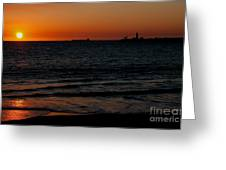 Sunset At Freemantle Greeting Card
