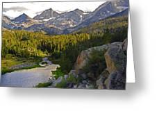 Sunset At Mack Lake Greeting Card