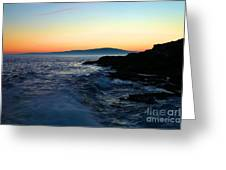 Sunset At Schoodic Greeting Card