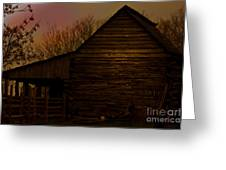Sunset At The Barn Greeting Card