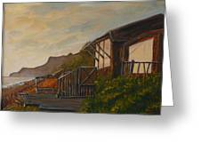 Sunset At The Beach House Greeting Card