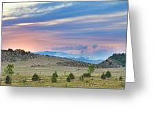 Sunset At The Colorado High Park Wildfire  Greeting Card