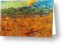Sunset At The Hills Greeting Card