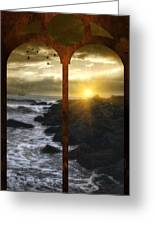 Sunset At The Jersey Shore Greeting Card