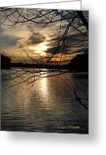 Sunset At The Lake Greeting Card