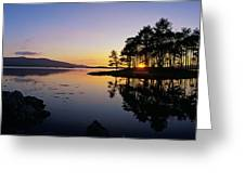 Sunset At The Lake, Kenmare, Ring Of Greeting Card