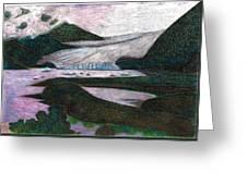 Sunset At Mendenhall Glacier Juneau  Alaska Greeting Card