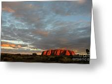 Sunset At Uluru Greeting Card