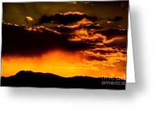 Sunset Behind Horsetooth Rock Greeting Card by Harry Strharsky