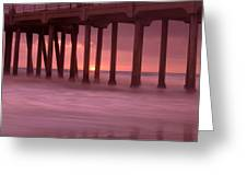 Sunset Behind Pier Greeting Card