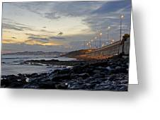 Sunset By The Sea Greeting Card