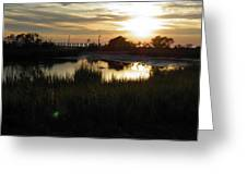 Sunset Cape Charles Virginia Greeting Card