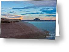 Sunset Cliff Greeting Card