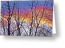 Sunset Cloud Color 12 Greeting Card