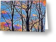 Sunset Cloud Color  3 Greeting Card
