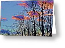Sunset Cloud Colors 10 Greeting Card