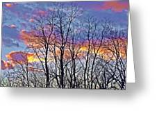 Sunset Cloud Colors 11 Greeting Card