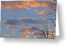 Sunset Cloud Colors 6 Greeting Card