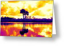 Sunset Colour Greeting Card