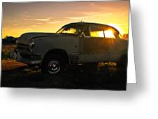 Sunset Coupe Greeting Card