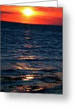 Sunset Denmark Samsoe Island Greeting Card