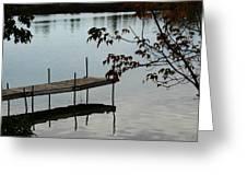 Sunset Dock Greeting Card